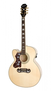 Violão Epiphone EJ 200 CE Gold Lefty Natural