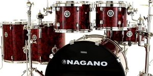 Bateria Nagano Concert Full Celluloid Abalone Red 22 8 10 12 14 16 14 Com Ferragens