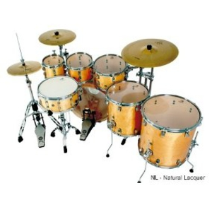 Bateria Nagano Work Series Birch Natural Lacquer 22,8,10,12,14,16,14 Com Ferragens
