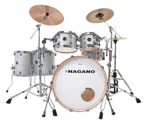 Bateria Nagano Work Series Birch Artic Sparkle 22,8,10,12,14,16,14 Com Ferragens