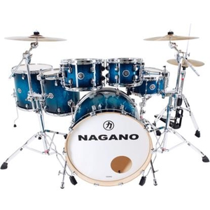 Bateria Nagano Work Series Birch Blue Sparkle 22,8,10,12,14,16,14 Com Ferragens