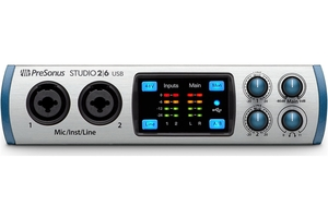 Interface de Áudio Presonus Stúdio 26 2 Ch Usb-Mac-Pc-Ipad