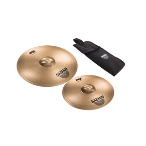 Kit de Prato Sabian B8 5006X1 Thin Crash 1618 + Bag para Baquetas