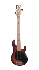 Contrabaixo Music Man Sting Ray HH 5 MP Honeyburst com Escudo Preto