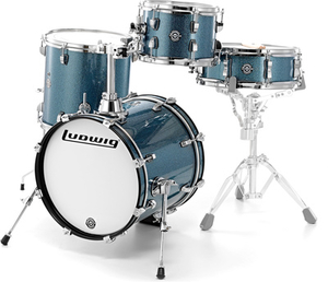 Bateria Ludwig LC 179x023 Breakbeats Azure Sparkle Shell Pack
