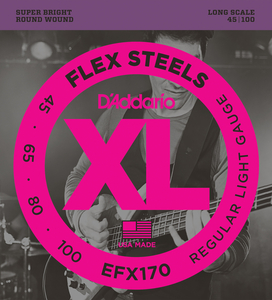 Encordoamento Contrabaixo Daddario EFX 170 Flex Steels