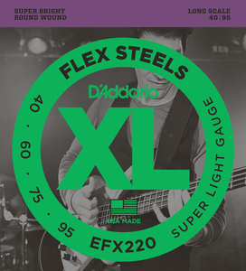 Encordoamento Contrabaixo Daddario EFX 220 Flex Steels