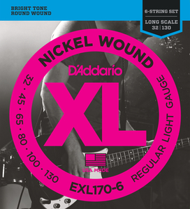 Encordoamento Contrabaixo Daddario EXL 170 6 XL Nickel