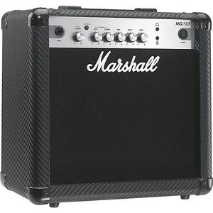 Cubo Guitarra Marshall MG 15 CF Carbon Fiber