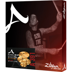 Kit de Pratos Zildjian A Series A0391 14NewBeat+16Crash+18Crash+21Ride