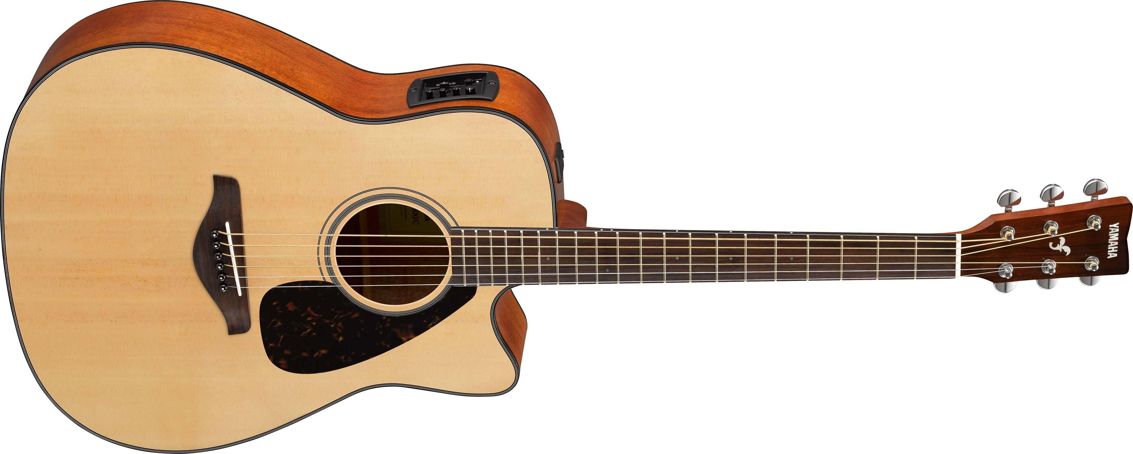 Violão Yamaha FGX 800 C NT - Musitech Instrumentos Musicais