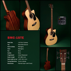 Baixolão Sigma Guitars by Martin BMC 1 STE Natural