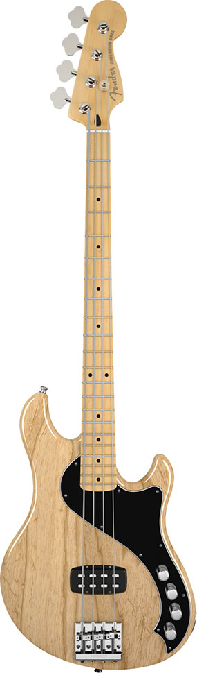 Baixo Elétrico Deluxe Active Dimension Bass Fender Natural 4 Cordas