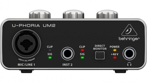 Interface Audio USB Behringer U-Phoria UM-2