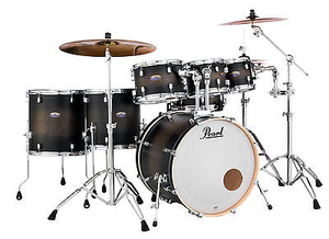 Bateria Pearl Decade Maple DMP 907 Satin Black Burst #262 Shell Pack