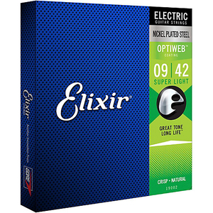 Encordoamento Guitarra Elixir Optiweb 009 042 19002 Super Light