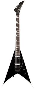 Guitarra Jackson King V 291 0123 JS 32 572 Black Whit White Bevels