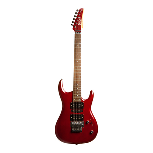 Guitarra Seizi Alien Metallic Red Escala Rw Com Floyd Rose