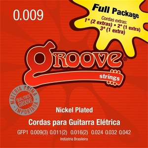 Encordoamento Guitarra Groove GFP 1 009 Full Package