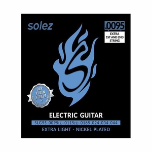 Encordoamento Guitarra Solez SLG 95 Extra Light Nickel Plated 095 044