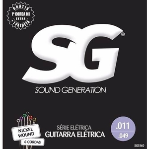 Encordoamento Guitarra SG 011 Niquel 5160