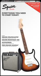 Kit Guitarra Fender 030 1812-Squier Affinity strat Short Scale Frontman Sq10