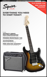 Kit Guitarra Fender 030 1814-Squier Affinity strat HSS Frontman 15 - 032 -Brown Sunburst
