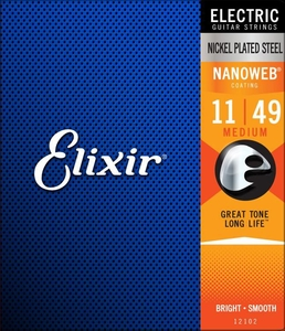 Encordoamento Guitarra Elixir 011-049 Nanoweb 12102 Anti Rust