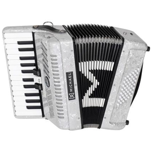 Acordeon Michael ACM 4803 PWH 48 Baixo 27 Teclas 3 Registros