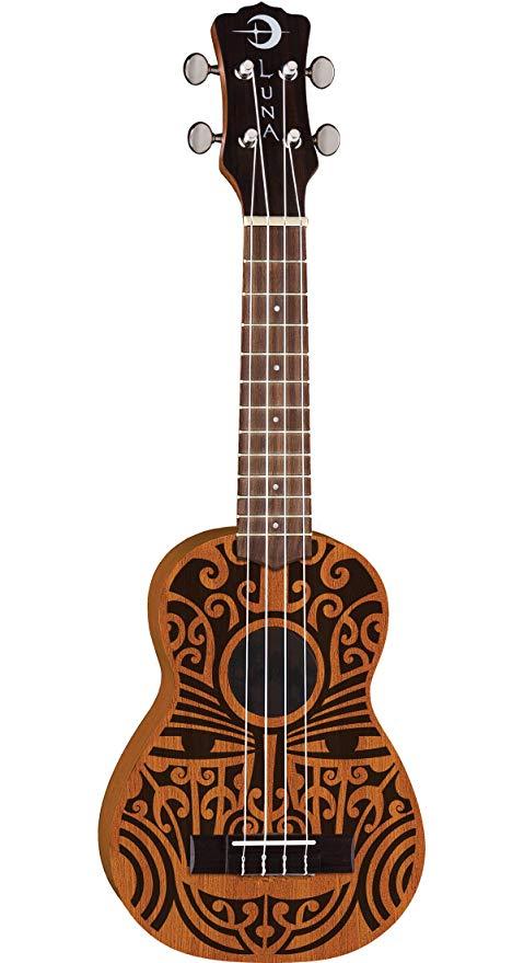 Ukulele Luna Uke Tribal Soprano Mahogany Musitech Instrumentos