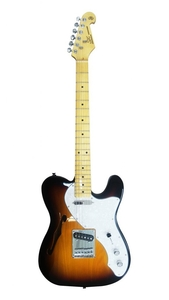 Guitarra SX Vintage Tele STLH Thinline Hollow Body Ash Sunburst