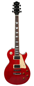 Guitarra Tagima Les Paul TLP Flamed TR Transparent Red C/Case New