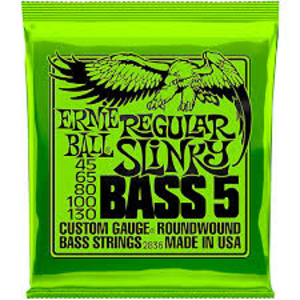 Encordoamento Contrabaixo Ernie Ball .045 / .130 5 cordas Regular Slinky