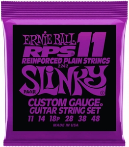 Encordoamento Guitarra Ernie Ball .011 / .048 2242 RPS11 Power Slinky
