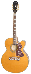 Violão Epiphone EJ 200 SCE Gold Solid Top - Vintage Natural