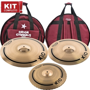 Kit De Pratos Orion SPX 90 X10 141620 Com Bag