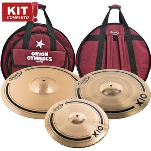 Kit De Pratos Orion X10 SPX 60 SPX15HH/SPX19RC/SPX22M - C/Bag