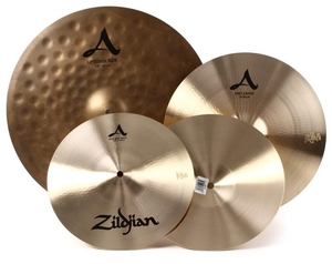 Kit Pratos Zildjian A Series-Acityp248-12NewBeat+14FastCrash+18UptownRide