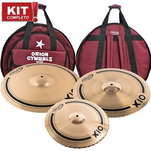 Kit De Pratos Orion X10 SPX 80 SPX14HH/SPX17MC/SPX21RD - C/Bag