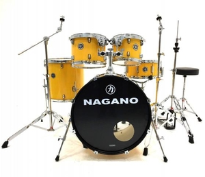 Bateria Nagano Garage Rock 22 YR Yellow Racing 22 10 12 16 14 Com Ferragens