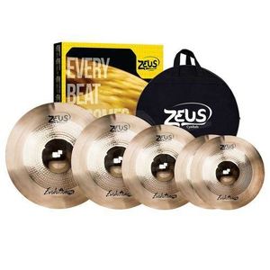 Kit de Pratos Zeus Evolution Pro Set D  Hi-Hat 14/Crash 16/18Ride 20 C/Bag