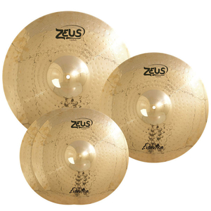 Kit de Pratos Zeus Evolution  Set C Hi-Hat 14/Crash 16/Ride 20