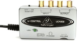 Interface de Áudio USB Behringer UCA 202 U-Control
