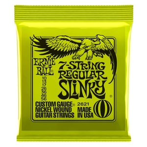 Encordoamento Guitarra Ernie Ball 010 056 7 Cordas Regular Slinky