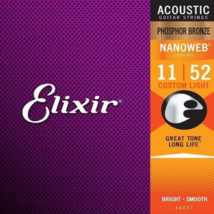 Encordoamento Violão Elixir 011 16027 Extra Light Phosphor Bronze