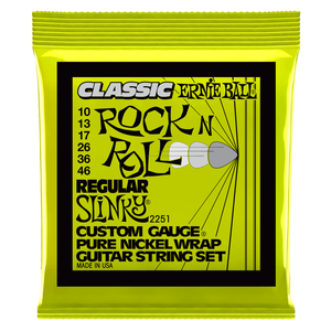 Encordoamento Guitarra Ernie Ball 10-46 P02251 Pure Niquel