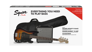 Kit Contrabaixo Fender 037 1982 Squier Affinity PJBass Rumble 15-032-Brown Sunburst