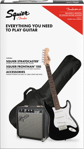 Kit Guitarra Fender 037 1823 Squier Strat Frontman 10G - 006 - Black