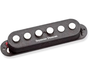 Captador Guitarra Seymour Duncan SSL-7 Quarter-Pound Staggered Strat, Alnico 5, Preto