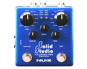 Pedal NUX Solid Studio NSS-5 I.R & Power Amp Simulator